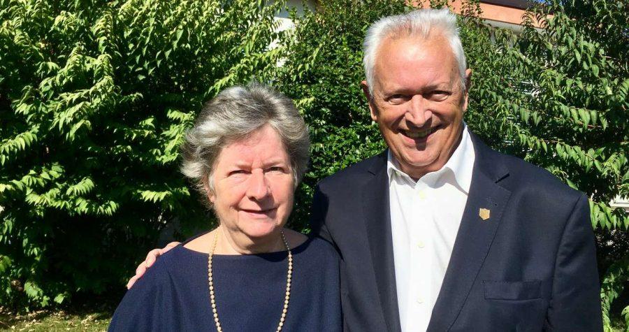 Michel Henri, pastore emerito e sua moglie Raymonde